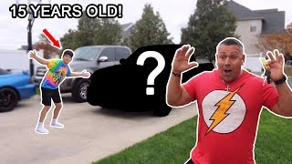 BUYING MY DAD HIS DREAM CAR AT AGE 15! *not clickbait*