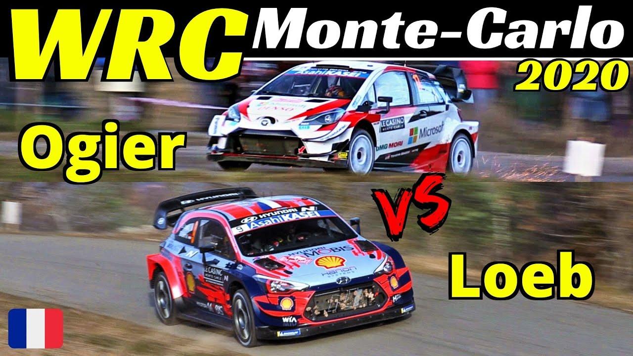 WRC Rallye Monte-Carlo 2020 - Sébastien Ogier vs Sébastien Loeb 15x World Champion Comparison, EPIC!