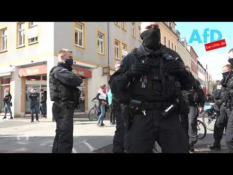 3.Mai.2020 - Corona - Massive Polizeigewalt gegen Pirnaer Spaziergang