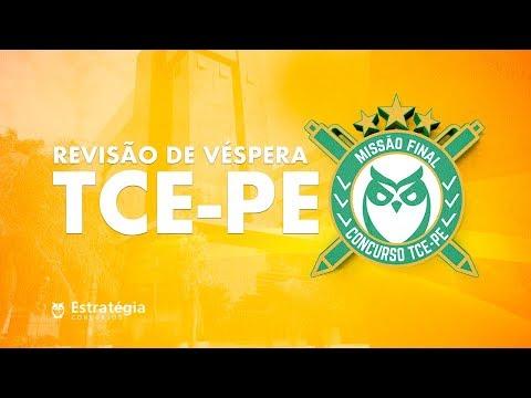 TCE-PE - Aulão de Véspera Presencial | Ao vivo