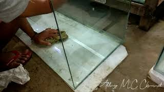 Cara membuat aquarium ukuran P90xL40xT40 ketebalan kaca dasar 8mm keliling 5mm