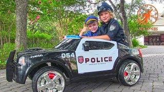 Ride On Police Car For Kids and Police Car Song for Kids