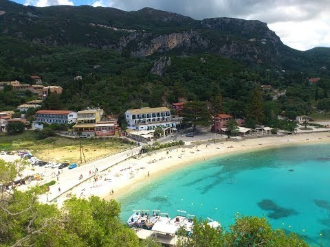 corfu paleokastritsa summer beach and surroundings