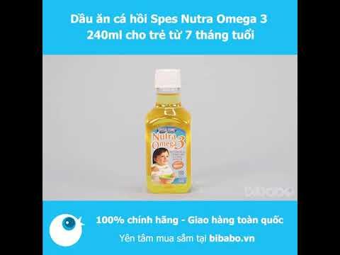 Dầu ăn cá hồi Spes Nutra Omega 3 240ml cho trẻ từ 7 tháng tuổi  Bibabo