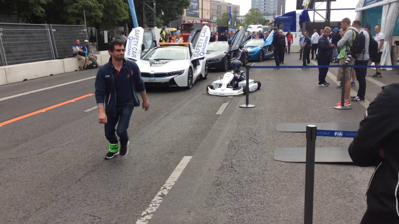 Elektro Kart In Berlin Bei Der Formula E Youtube