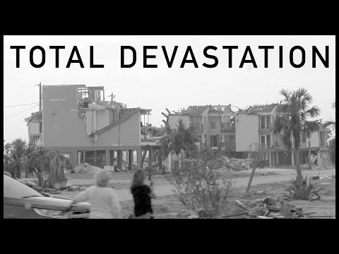 Devastation in Mexico Beach, Florida, two months after Hurricane Michael