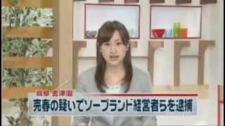 売春容疑でソープランド経営者ら12人逮捕 (岐阜県)