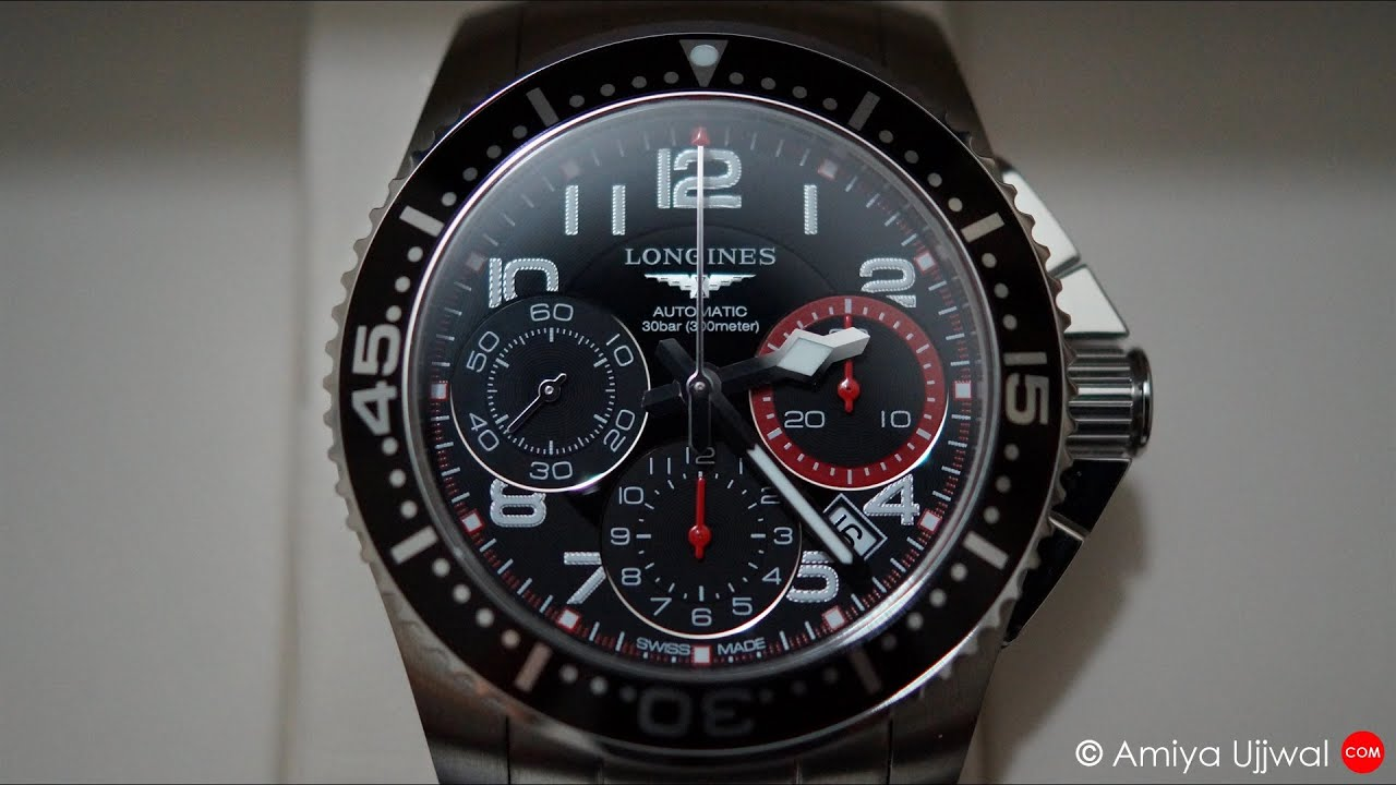 Longines Hydroconquest Automatic Chronograph Unboxing ...