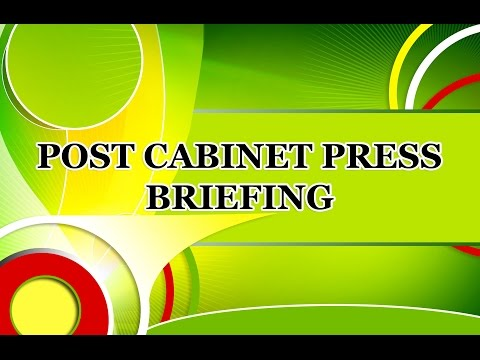Post Cabinet Press Briefing - May 18, 2017