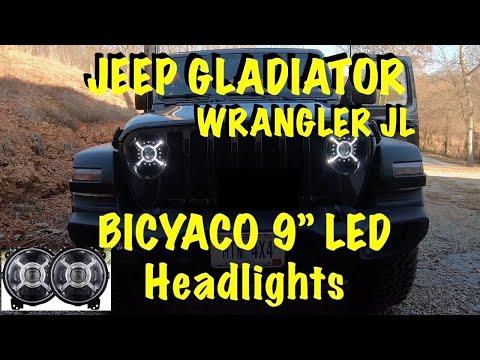 JEEP Gladiator JT Wrangler JL BICYACO LED Headlights Install & Review