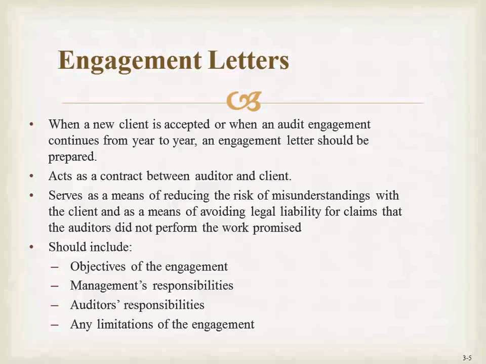 Engagement Letter - YouTube - engagement letter