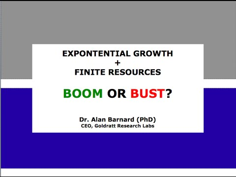 Exponential Growth + Finite Resources = Boom or Bust?