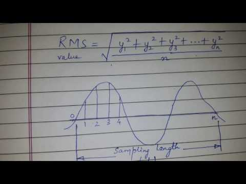 Root mean square value or RMS value