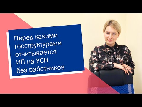 Перед какими госструктурами отчитывается ИП на УСН без работников (ИП/РФ)