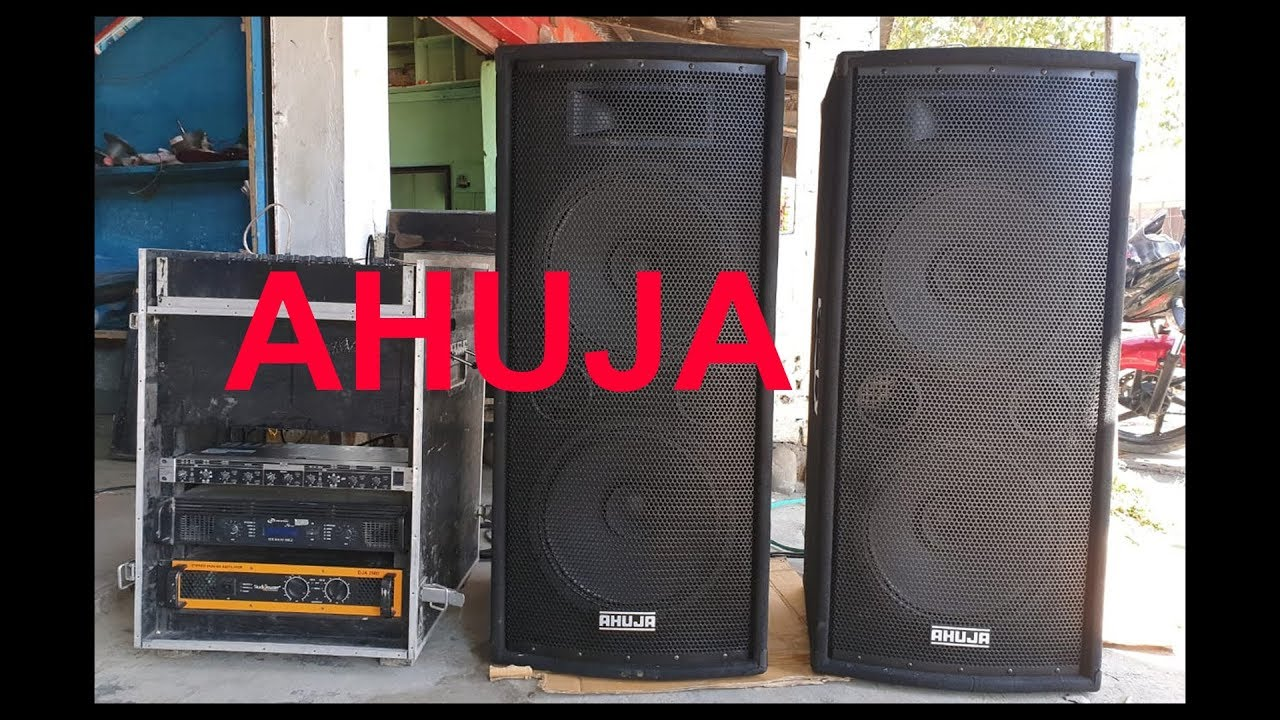 Ahuja Double 15in  Speakers sound test