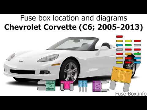 [SCHEMATICS_49CH]  Fuse box location and diagrams: Chevrolet Corvette (C6; 2005-2013) - YouTube | 2008 Corvette Fuse Box Location |  | YouTube