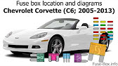 [TVPR_3874]  Fuse box location and diagrams: Chevrolet Corvette (C6; 2005-2013) - YouTube | 2008 Corvette Fuse Box Location |  | YouTube