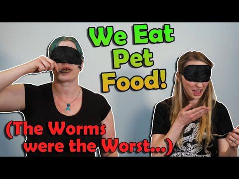 Blindfolded PET FOOD Eating Challenge!!