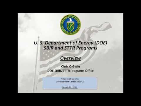 2017 Department of Energy (DOE) SBIR/STTR Overview