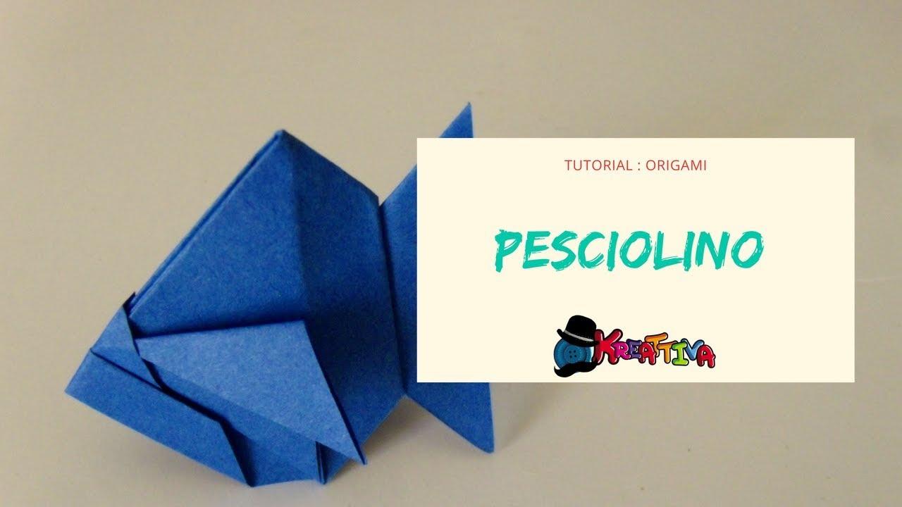 Come Realizzare Pesci Origami Youtube
