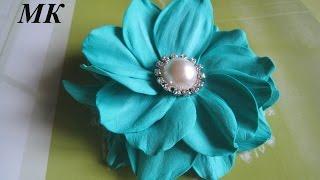Цветы из фоамирана - брошь /How to make Foam Flower