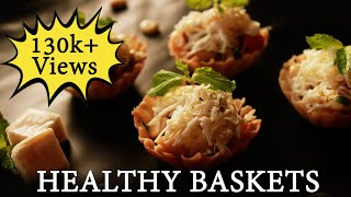 Healthy Baskets|Chat Recipe|easy to make Snacks|The Cook-n-Joy Show (Episode 05) by Vaishali