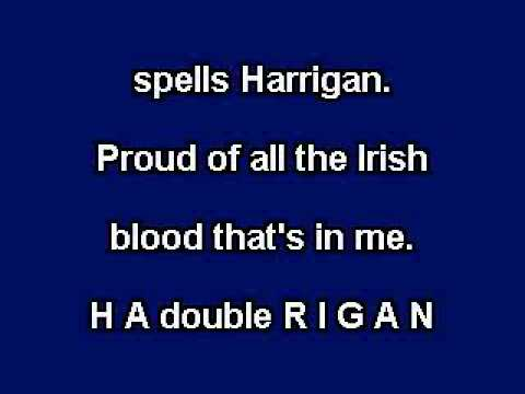 Harrigan, karaoke video with lyrics, instrumental version