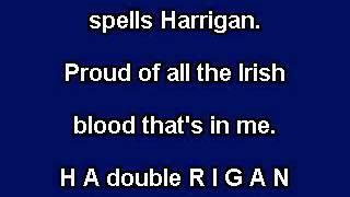 Harrigan karaoke video with lyrics instrumental version