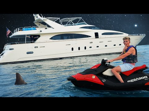 Overnight Challenge on $13,000,000 Super Yacht!! *SECRET ENGINE ROOM*