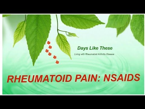 Rheumatoid Arthritis Pain Treatment: Nsaids