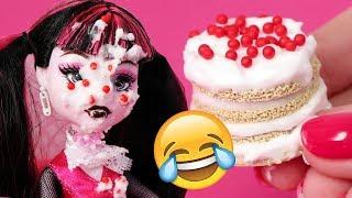 😱 ТОРТ В ЛИЦО 💥 Кто это сделал? 💥 Крутая идея крем для торта для кукол! FIMO DIY Анна Оськина