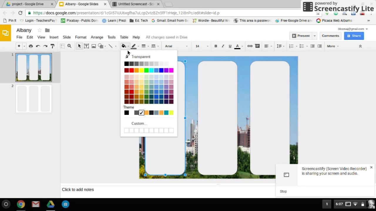 how to make google slides landscape