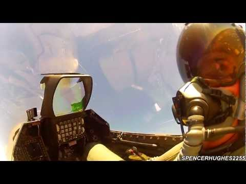 GoPro [COCKPIT VIDEO] F-16 VIPER WEST HERITAGE FLIGHT @ 2012 CALIFORNIA CAPITAL AIR SHOW (Sunday)