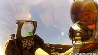 GoPro [COCKPIT VIDEO] F-16 VIPER WEST HERITAGE FLIGHT @ 2012 CALIFORNIA CAPITAL AIR SHOW (Sunday)