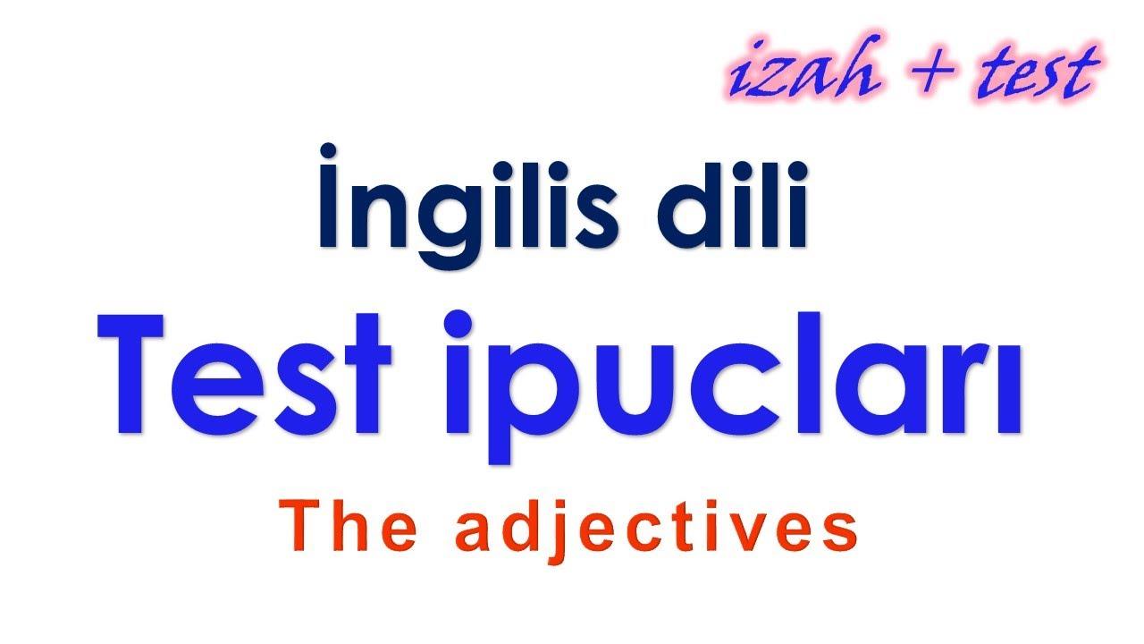 İngilis dili, toplu 1, Adverbs/ Zərf