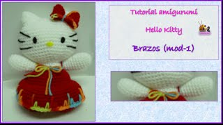 Tutorial Amigurumi Hello Kitty - Brazos (mod-1) (english Subtitles)