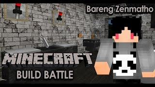 """""""RUMAH HANTU!!!"""" Minecraft Indonesia Build Battle w/Zenmatho"""