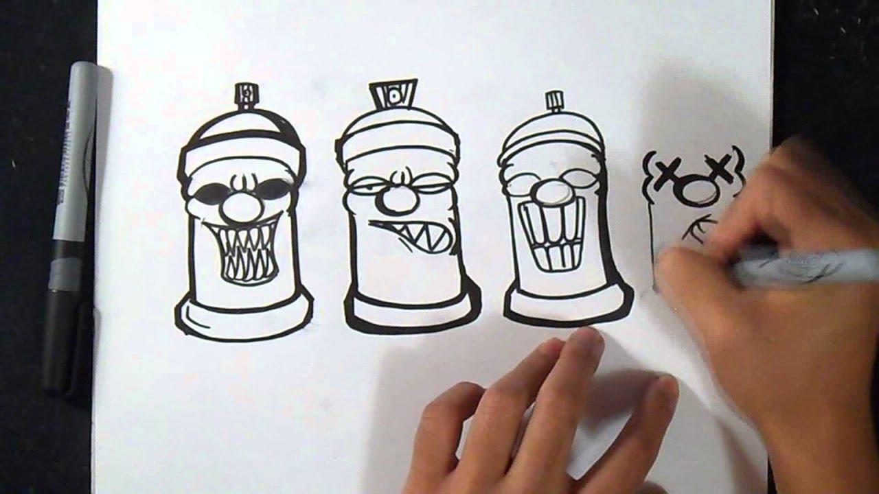 Come Disegnare Bombola Spray Disegni Graffiti Youtube