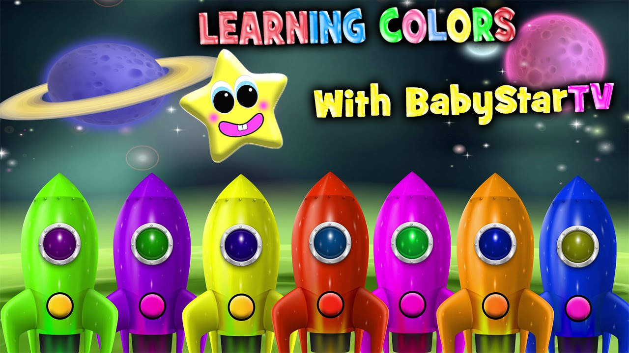 Learn Rocket Ship Colors