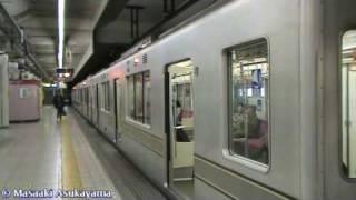 Tokyo Metro Series 03 - Hibiya Line's Train @ Hatchobori 【03-101F】