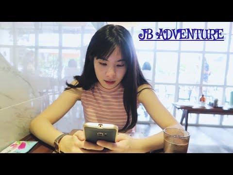 Johor Bahru Travel Vlog  V#13 JB sentral cafe Hopping, Danga bay, 2017