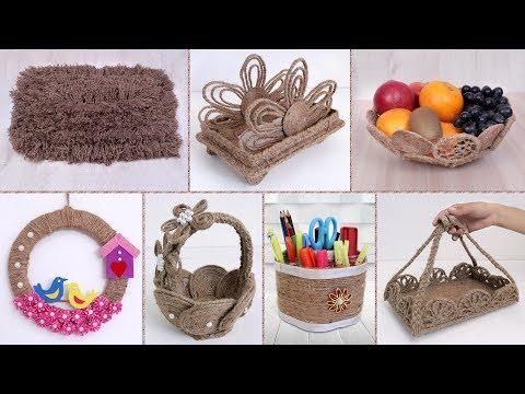 8 Beautiful Jute Craft Ideas !!! DIY Handmade Things || Home Decor