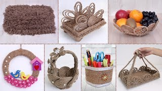 8 Beautiful Jute Craft Ideas !!! DIY Handmade Things || Home Decor