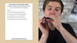 Mr Tambourine Man harmonica lesson (Bob Dylan Week at LearnTheHarmonica.com)
