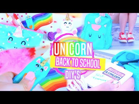 Unicorn School Supplies DIY's + GIVEAWAY!