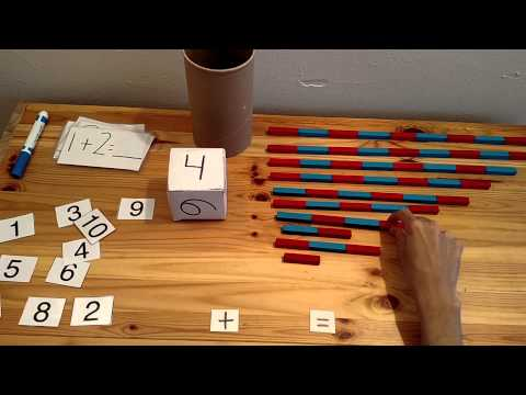 Montessori Math Activities For Counting And Addition With Rods