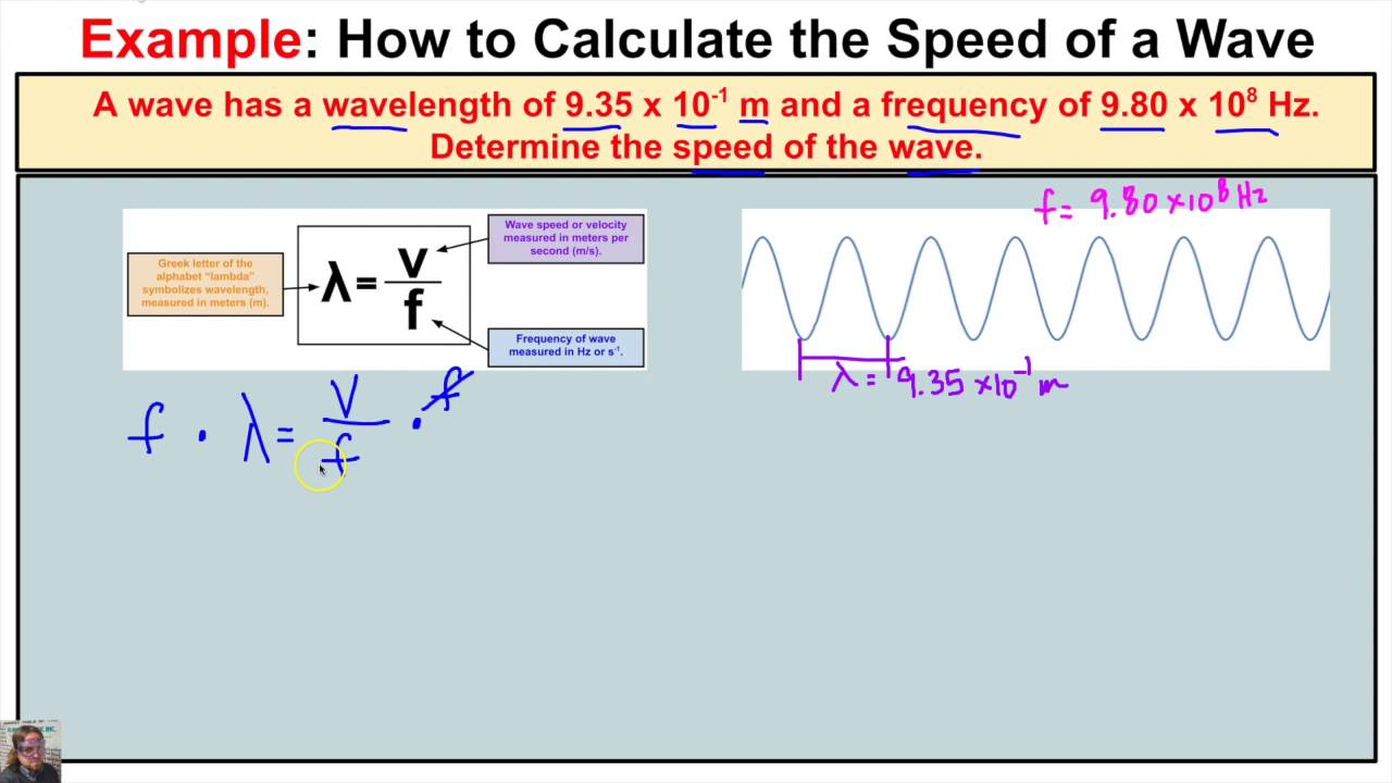 How To Calculate The Wave Speed Of A Wave When Wavelength And