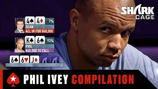 Phil Ivey CRUSHING Shark Cage ♠️ Best of Shark Cage ♠️ PokerStars