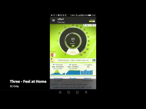Roaming test in Sweden EE, Vodafone and Three Feel at Home using nPerf