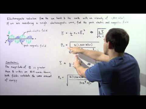 Poynting Vector and Intensity of Electromagnetic Waves Example
